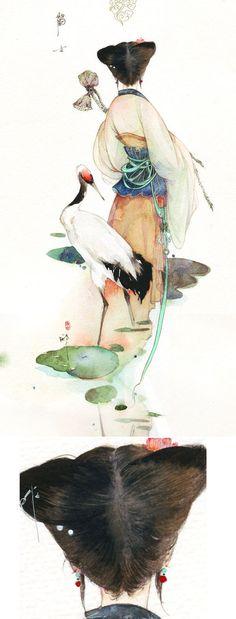 Art Asiatique, Japanese Painting, Japanese Watercolor, Zen Painting, Chinese Painting, Watercolor Art, Chinese Artwork, Japanese Drawings, Japanese Prints