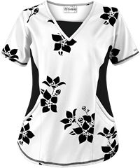 Print Scrub Tops and Print Nursing Scrubs at Uniform Advantage Cute Scrubs Uniform, Scrubs Outfit, White Scrub Tops, White Scrubs, Scrub Shoes, Scrubs Pattern, Medical Scrubs, Nursing Scrubs, Diy Couture