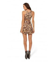 3d Bee Print Pleated Skirt