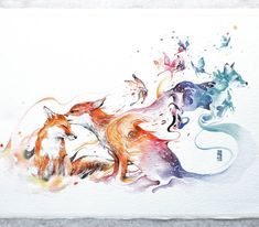 Luqman Reza Mulyono,Jongkie,Лиса,лис, лисы, лиска,красивые рисунки,песочница