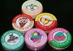 Last one, these were so waxy...natural lip balms though, watermelon and cherry vanilla