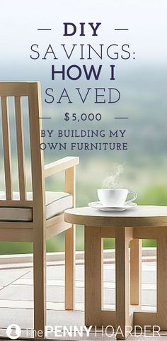 Would you make your own furniture to save money? Furnishing your home with DIY projects is a smart (and fun) way to save money. If you start to enjoy it you could even sell your creations! Heres how one man saved almost $5000 by making his own furniture in his backyard. #smallwoodcrafts