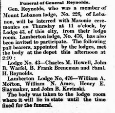 Genealogical Gems: On This Day: Gen Reynolds is laid to rest