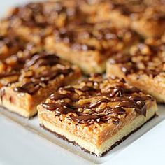 Caramel de Lite Cookie Bars--enjoy those Girl Scout favorites anytime of year!
