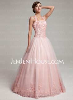 Quinceanera Dresses - $183.99 - Ball-Gown Halter Floor-Length Taffeta Tulle Quinceanera Dresses With Ruffle Lace Beading (021002881) http://jenjenhouse.com/Ball-Gown-Halter-Floor-Length-Taffeta-Tulle-Quinceanera-Dresses-With-Ruffle-Lace-Beading-021002881-g2881