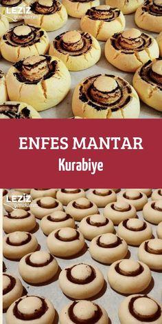 Delicious Mushroom Cookies - My Delicious Food Enfes Mantar Kurabiye - Leziz Yemeklerim Delicious Mushroom Cookies Biscotti Cookies, Cooking Cake, Tasty, Yummy Food, Vegetable Drinks, Arabic Food, Healthy Eating Tips, Mushroom Recipes, Diet And Nutrition