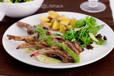 20-minute Meal: Lamb Cutlets with Pesto Sauce Recipe    This pan-fried lamb cutlets recipe is so elegant to serve either for special occasions or as a family meal.