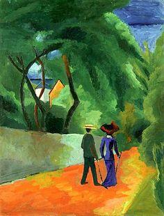 Der rote Weg. 1914: August Macke