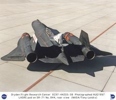 SR-71 with LASRE pod