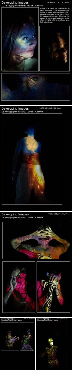 projecting images onto skin, AS Photography from Doha College