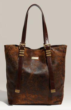 Michael Kors Brown Darrington Vertical Leather Tote