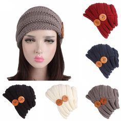 f7476d59252 Winter Warm Hats Womens Ladies Knitted Hat Braided Baggy Ski Caps Slouchy  Beanie  fashion  clothing  shoes  accessories  womensaccessories  hats (ebay  link)