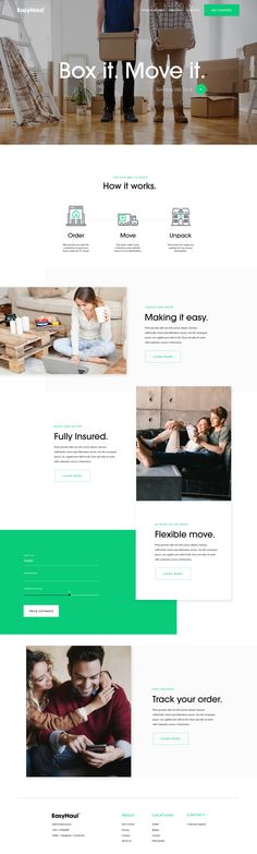 EasyHaul Website – Landing page by Jamie Ritchie