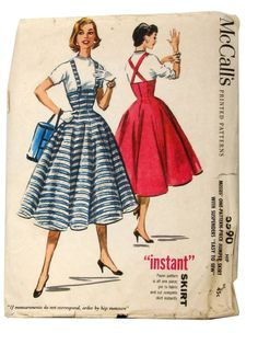 1950s trumpet skirt mccalls patterns | ... pattern 50s mccalls pattern no 3590 womens skirt jumper which has the