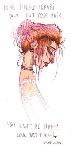 message to myself by *Fukari on deviantART - i love the way she fades out the shoulders.  Looks like freckles.