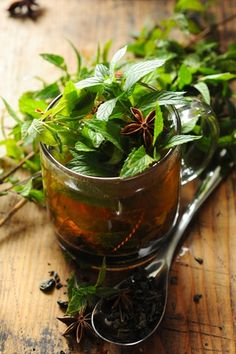 Herbal tea and star anise