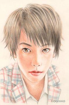 佐藤健 Colored Pencils, Draw, Portrait, Fictional Characters, Colouring Pencils, Headshot Photography, Crayons, Men Portrait, Paint Colors