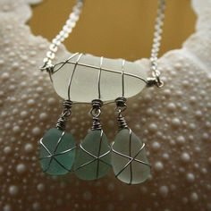 This dainty sea glass necklace features three teeny charms hanging from a frosty Aqua piece of seaglass :-) #seaglass #necklace #beachglass #beachfinds #surfer #blueseaglass #teal #flotsamandjetsam #seaglassjewelry #seaglassnecklace #foundobjectjewelry #glassnecklace #stainlesssteel #beach #brighton #cornwall #kernow #handmadejewelry #handmadenecklace #shopsmall #handmade #beachcombing #beachshackproject