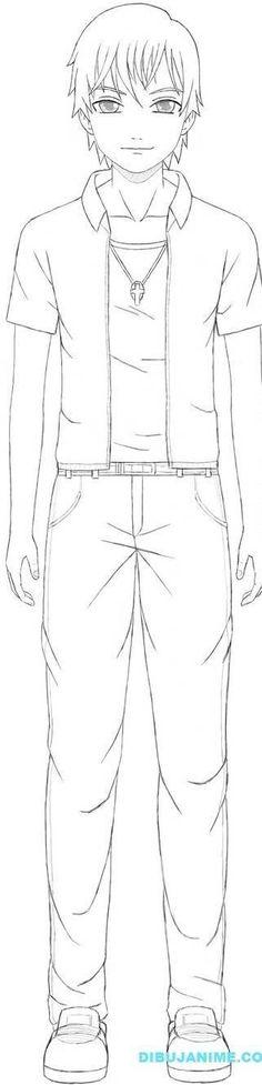 como aprender a dibujar hombres anime y manga 4
