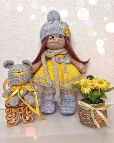 Made by usova galay Crochet Doll Clothes, Knitted Dolls, Crochet Dolls, Crochet Baby, Handmade Dolls Patterns, Doll Patterns, Amigurumi Doll, Amigurumi Patterns, Crochet Doll Pattern