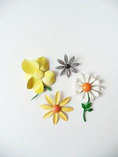 Vintage Brooch Pin Enamel Flowers Accessories by SPARKLESandSASS
