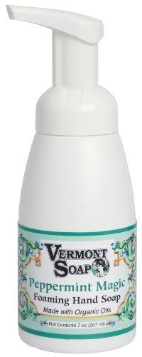 Vermont Soap Organics  Peppermint Foaming Hand Soap 7oz Pump ** To view further for this item, visit the image link.