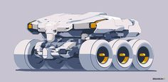 Brian Sum six wheeled transportation vehicle syd mead style, concept art transportation design inspiration ideas, military transport ice train snow mobile Army Vehicles, Armored Vehicles, Cyberpunk Art, Futuristic Cars, Car Sketch, Science Fiction Art, Panzer, Transportation Design, Sci Fi Art