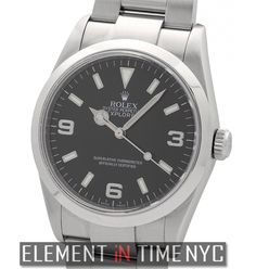 #Rolex Explorer I 36mm P Serial Circa 2000 Stainless Steel Black Dial  Re#: 114270  ($4,675.00 USD)