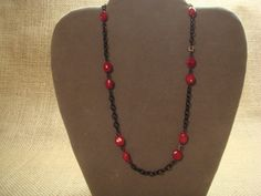 Red Coral beaded necklace by GailardiaDesigns on Etsy, $25.00
