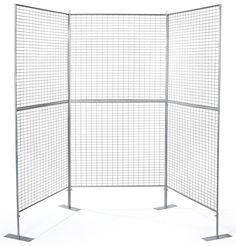 Art Display Grid, U-Shaped, 3 Panels - Silver