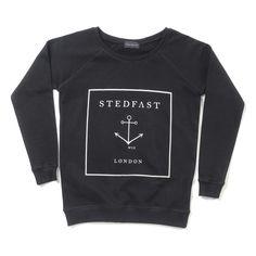Stedfast London Black anchor sweatshirt woman