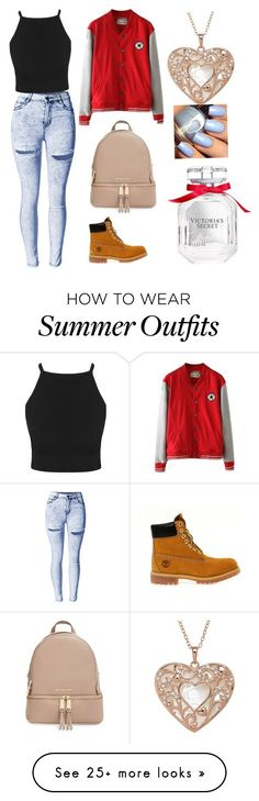 """Total KC outfit"" by areezachohan on Polyvore featuring MICHAEL Michael Kors, Timberland and Victoria's Secret"
