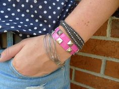 10 Amazing Things You Can Make With Duct Tape: DIY Duct Tape Studded Bracelet