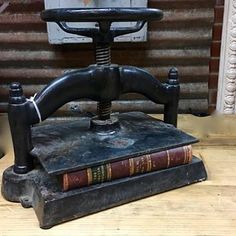 Iron Book Press $325  Parkhouse Antiques Dealer #1969  Lost. . .Antiques 1201 N. Riverfront Blvd. Dallas TX 75207  #parkhouseantiques #lostantiques #ironbookpress #bookpress #antiquebookpress #shop #antiquestoredallas #dallasantiques #dallasvintage #shopdallas #dallasdesigndistrict #dallas by parkhouseantiques