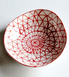 Hand-Painted Ceramic Triangle Bowl | Home Decor | Half Light Honey Studio | Scoutmob Shoppe | Product Detail