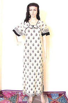 Cotton Casual Printed Maxi Dress Beach Wear Boho Indian Long Kaftan Maxi B11J