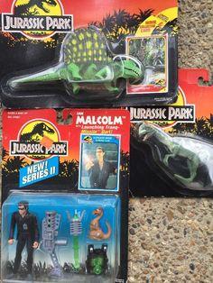 Jurassic Park 1993 4 Ian Malcolm Series 2 Kenner Dimetrondon Diliphosaurus | eBay