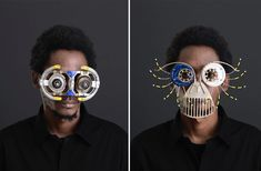 New Sculptural Eyewear Produced From Salvaged Street Metal and Found Objects by Cyrus Kabiru | Colossal