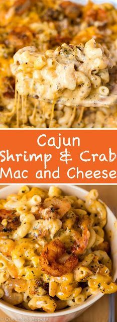 This Cajun Shrimp and Crab Mac and Cheese is super creamy, cheesy and decadent. This delicious spin to the classic dish will surely be your new favourite! pasta Cajun Shrimp and Crab Mac and Cheese Seafood Mac And Cheese, Macaroni Cheese Recipes, Pasta Cheese, Mac Cheese, Cheese Dishes, Baked Shrimp Mac And Cheese Recipe, Mac And Cheese Lasagna Recipe, Awesome Mac And Cheese Recipe, Spicy Mac And Cheese