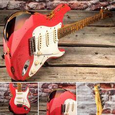 Fender Custom Shop Stratocaster Ltd Edition Heavy Relic Mischief Maker - World Guitars – UK Guitar Store with Worldwide Delivery Fender Custom Shop Stratocaster, Stratocaster Guitar, Prs Guitar, Fender Guitars, Music Guitar, Cool Guitar, Guitar Pics, Bass Guitars, Guitar Amp