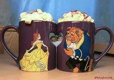 Cute Disney, Disney Art, Hello Kitty Coloring, Disney Cups, Disney Souvenirs, Disney Rooms, Cute Cups, Magical Jewelry, Teapots And Cups