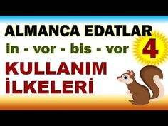 ALMANCA EDATLAR 4 : in - vor und vor Edatları Kullanım İlkeleri