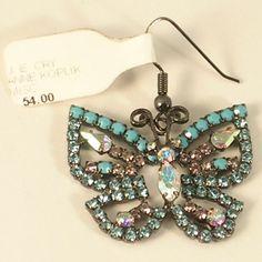 Tiara Misu Butterfly Pendant or Single Earring with Swarovski Crystals Plus New #TiaraMisu #Pendant