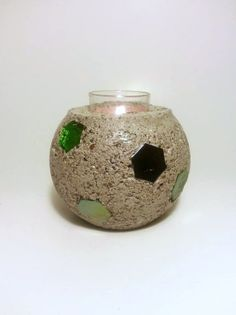 Tea Light Candle Holder Concrete Candle by DeerwoodCreekGifts, $22.00