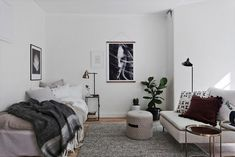 Le charme du passé   PLANETE DECO a homes world   Bloglovin' Small Space Living, Small Rooms, Small Spaces, Tiny Studio Apartments, Appartement Design, Small Room Design, Studio Living, Interior Decorating, Interior Design