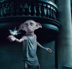 This is Dobby he's a very good friend from harry, Ron and Hermione. He tried to safe Ron, Harry and hermione but he got killed by bellatrix black. Dobby Harry Potter, Harry Potter World, Headcanon Harry Potter, Images Harry Potter, Harry Potter Funny Pictures, Mundo Harry Potter, Harry Potter Love, Harry Potter Characters, Fictional Characters