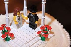 A Little Lego Love is listed (or ranked) 6 on the list 39 Magnificently Geeky Wedding Cake Toppers Silhouette Wedding Cake, Bride And Groom Silhouette, Fun Wedding Cake Toppers, Wedding Cakes, Plan My Wedding, Dream Wedding, Wedding Planning, Lego Cake Topper, Wedding Themes