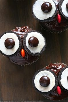 Owl Cup Cake. Just lovely