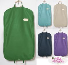 Monogrammed Canvas and Leather Garment Bag 16 Colors from Jon Hart Luggage & Bags > Business Bags > Garment Bags