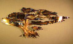 Monterey Cypress Windswept Coastal Tree Steel Ocean Decor Metal Beach Cottage Home Wall Art